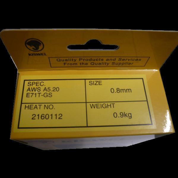 Kiswel gasfri svejsetråd – 0,8 mm – 0,9 kg  ( Flux tråd )