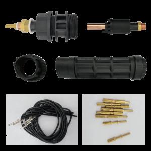 Styrestrøm connector komplet – TIG / Plasma
