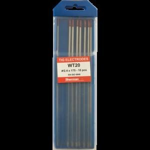 TIG Sherman Wolfram Elektroder – RØD – 175mm – Ø 2.4 – Pris pr stk
