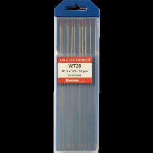 TIG Sherman Wolfram Elektroder – RØD – 175mm – Ø 1.6 – Pris pr stk