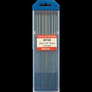 TIG Sherman Wolfram Elektroder – RØD – 175mm – Ø 2.0 – Pris pr stk