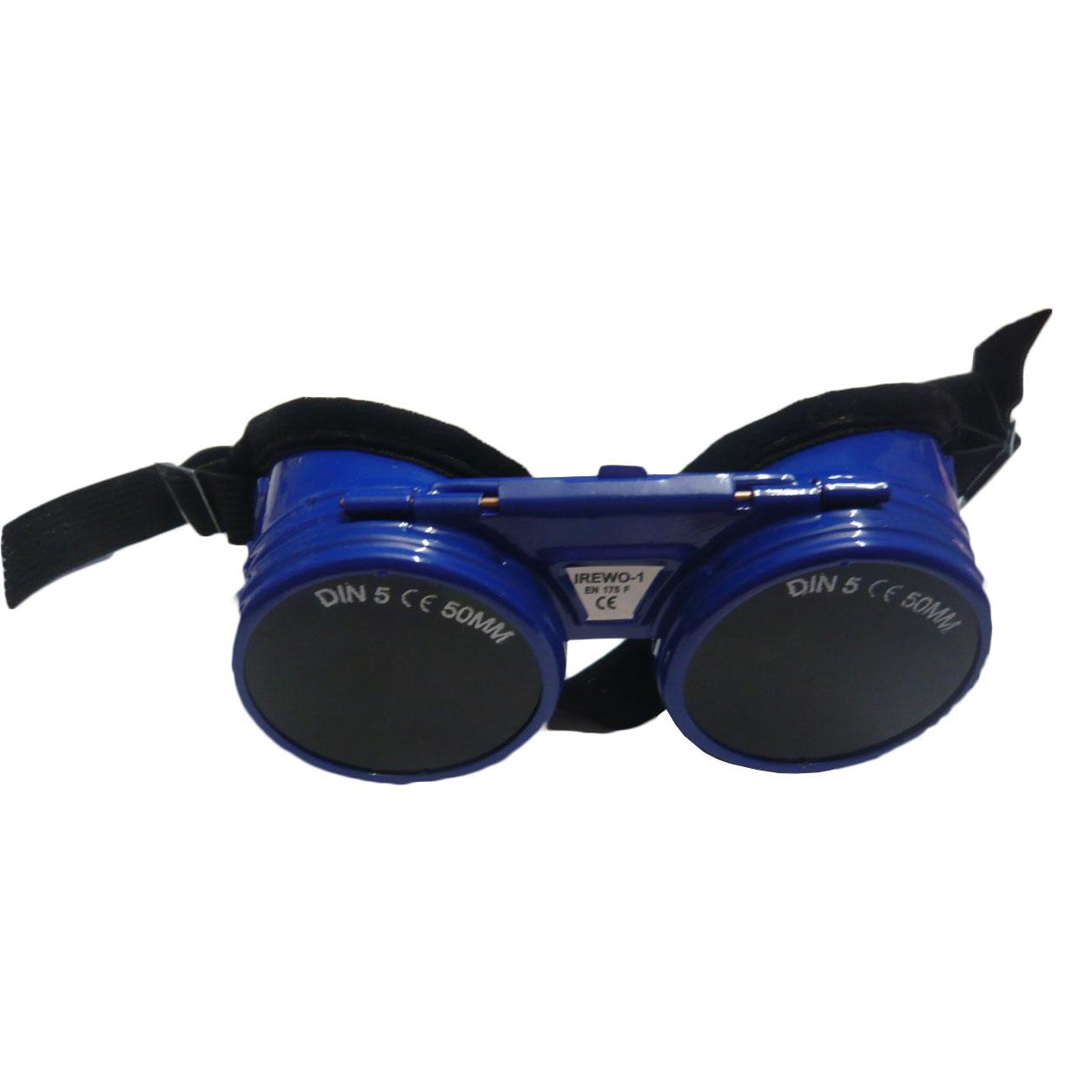 Svejsebriller Din 5 + klar glas ved åbning.