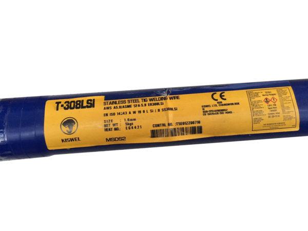 TIG Rustfri stål 308 LSI 1,6mm  – Pris v/ 5 kg.