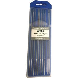 TIG Sherman Wolfram Elektroder – GRÅ – 175mm – Ø 1.6 – Pris pr stk