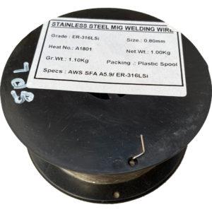 Rustfri Svejsetråd 316LSI – 0.8mm – 1kg