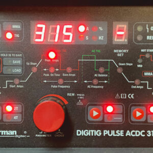 Sherman DIGITIG 315GD Puls AC / DC – inkl. T-18 4m TIG slange og flowmeter – Kampagnepris