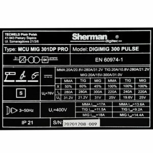 Sherman DIGIMIG 300 Pulse