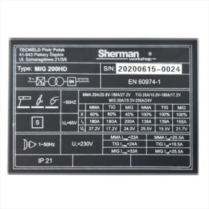 Sherman Synergic MIG 200HD