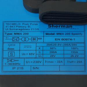 Sherman MMA 200 Speedy – Elektrode svejser – SÆT TILBUD – Kampagnepris