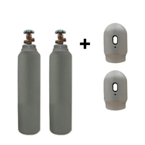 Co2 – 2×5 liter flasker – 150 bar – Sælges som engangsflaske – Fragtfri