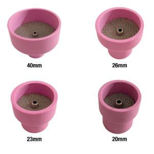 TIG Keramik med lens body – T9/20 eller T17/18/26 – Sæt