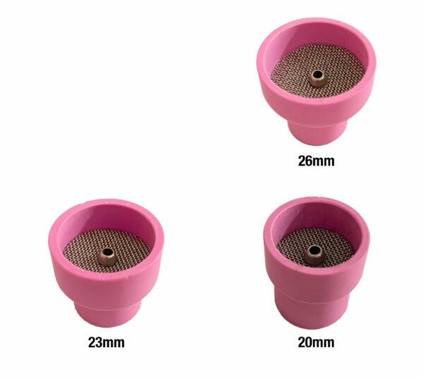 TIG Keramik med lens body – T9/20 og T17/18/26 – Sæt